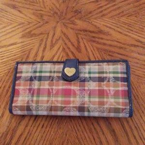 Coach plaid wallet